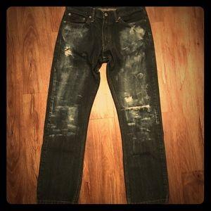 Levi's 514-Distressed Drk Wash-100%Cotton Sz 32x32